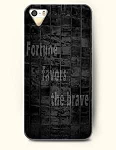 OOFIT iPhone 4/4s Case Fortune Favors The Brave Proverbs Of Life