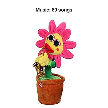 Amazon.com : Singing Dancing Flower Doll Girasol juguetes de ...