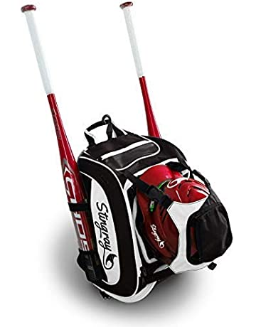Large Capacity Baseball/Softball Stingray Backpack with Helmet Holder | Adult/Youth/Kids