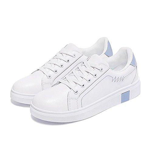 Caen Zapatos Las de Academia la de Primavera Casuales Cordones con Zapatos para Segundo Caminar Zapatillas Enredaderas Nuevo Redonda de Deporte Zapatos de Cuero Mujer Punta xYFwPXfq