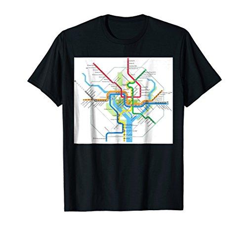 (Washington, DC subway map - USA - T-shirt)