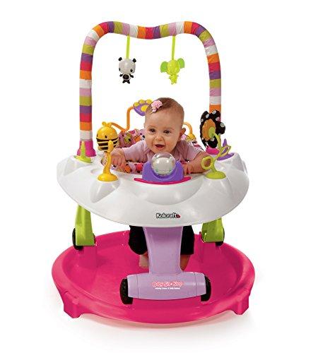 Kolcraft KA008-PBH1 Centro de Actividades Baby Sit & Step 2 en 1, Rosa