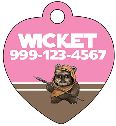 Ewok Disney Star Wars Pet Id Tag For Dogs & Cats Personalized w/ Name & Number]()