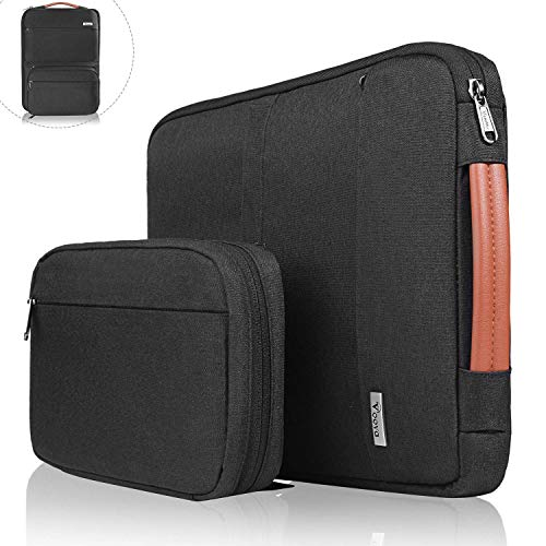 Voova Laptop Sleeve Case,Special Design Waterproof Computer Carry Bag with Detachable Accessory Pouch Compatible with 13-13.3 Inch MacBook Air, MacBook Pro, Surface Book 2 13.5 Notebook Chromebook 13