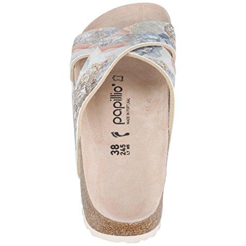 Papillio Damen Daytona Birko-flor Schmal Sandale Crystal Rose (1009062)