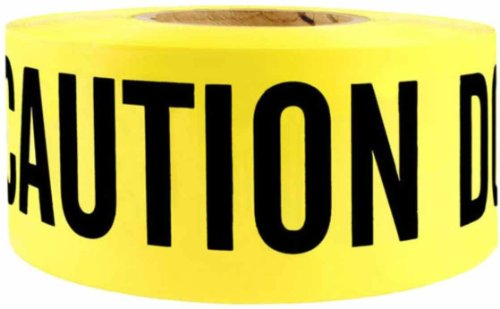 Swanson BT100DNE2 3-Inch by 1000-Feet 2-MIL Barricade Tape Caution with Do Not Enter Yellow/Black Print -