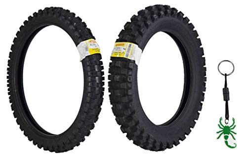 Pirelli Scorpion MX32 Extra X Dirt Bike 80/100-21 Front 120/100-18 Rear  Motorcycle Tires Set w Authentic Pirelli Scorpion Key Chain