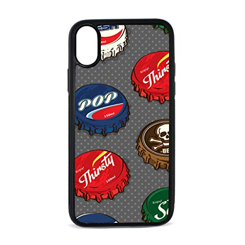 iPhone Cola Retro Juice Soda Hand-Painted Art Fashion Creative Digital Print TPU Pc Pearl Plate Cover Phone Hard Case Accessories Compatible with Protective Apple Iphonex/xs Case 5.8 Inch