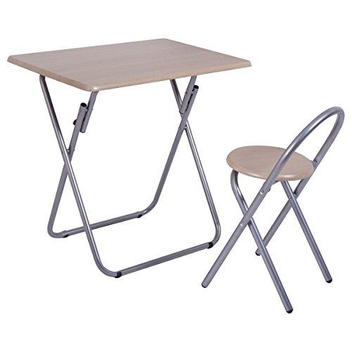 Imtinanz Modern Style Kids Folding Study Writing Desk Table Chair Set by Imtinanz