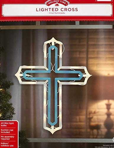 - Holiday Time Christmas Decor Religious Lighted Cross