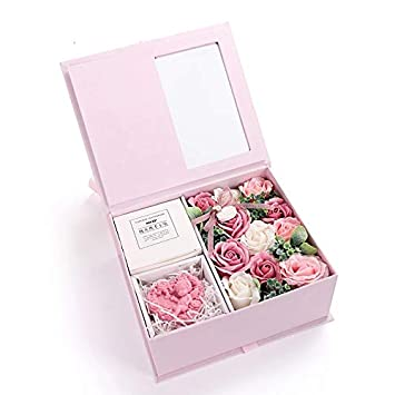 bb47038ca2be7 Iamagie Hand-Made Soap of Pink Rose Flower Bouquet and Cupid with Gift Box  Romantic