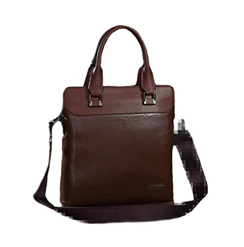 Hombre Noble marrón Bolsa Manera Práctica La El Ocasional Handcarry De Para Bolsa Clásico Concisa Cuadrada r6wqrtZpO
