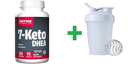 (Jarrow Formulas, 7-Keto DHEA, 100 mg, 90 Capsules(1 Pack)+ Assorted Sundesa, BlenderBottle, Classic With Loop, 20 oz)