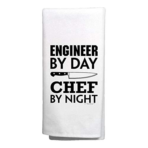 Housewarming Gifts Engineer by Day Chef by Night Engineering Gifts Decorative Kitchen Tea Towel