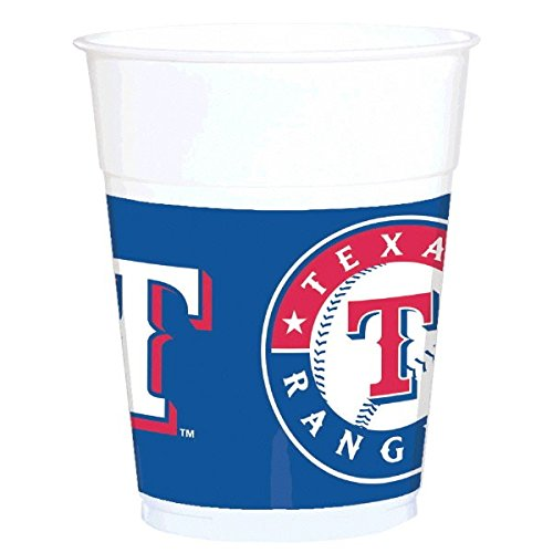 Sports and Tailgating MLB Party Texas Rangers Treat Cups Tableware, Plastic, 14 Ounces, Pack of 25