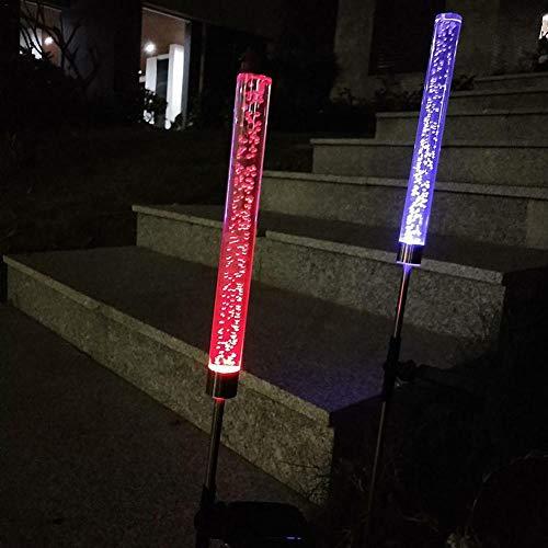 2pcs/Set Solar Lights Color Changing Tube Lamp Backyard Bubble RGB Acrylic Stake