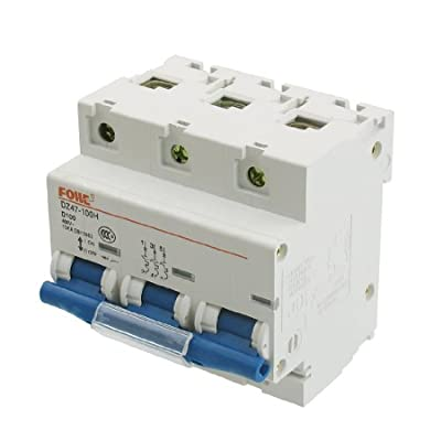 uxcell AC 400V 100A 3 Pole 3P Overload Protection Miniature Circuit Breaker