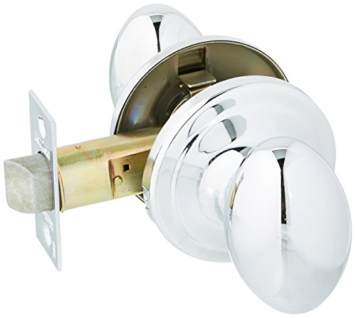 Chrome Chassis - Kwikset 720L-26GC Laurel Passage Door Lock Bright Chrome Finish with New Chassis