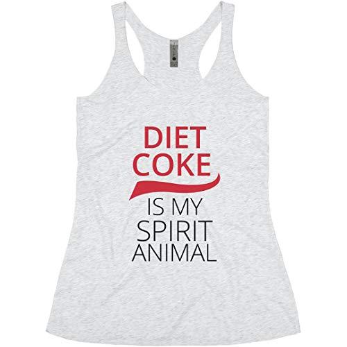 Spirit Animal Diet Coke: Ladies Slim Fit Racerback Triblend Tank Heather White]()