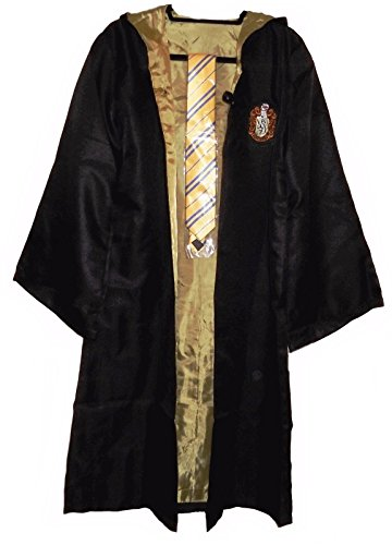 Hufflepuff School Crest Adult Size Robe w/Hood and Tie Size XX-Large ()