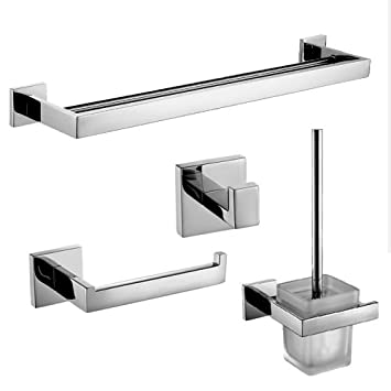 wall mounted bathroom accessories set. Lightinthebox Wall Mounted Bath Hardware Bathroom Accessories Set  4 Piece Collection With Double Amazon Com