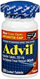 Advil Ibuprofen 200 mg - 200 Coated Tablets, Pack of 6