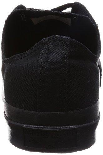 Converse All Star Ox Fashion tela, nero (Black Monochrome), 39 EU Uomini 42 EU Donne