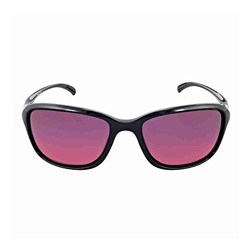 Oakley Womens Shes Unstoppable Polarized Sunglasses Polished Black/Rose Gradient by Oakley