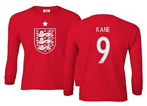 Spark Apparel Soccer Shirt 2018 National #9 Kane World Championship Boys Girls Youth Long Sleeve T-Shirt