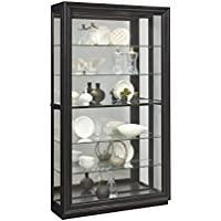 Pulaski P021553 Rockford Mirrored Two Way Sliding Door Curio Cabinet 45.9 x 14.8 x 80.0