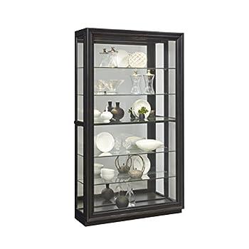"Pulaski P021553 Rockford Mirrored Two Way Sliding Door Curio Cabinet 45.9"" x 14.8"" x 80.0"""