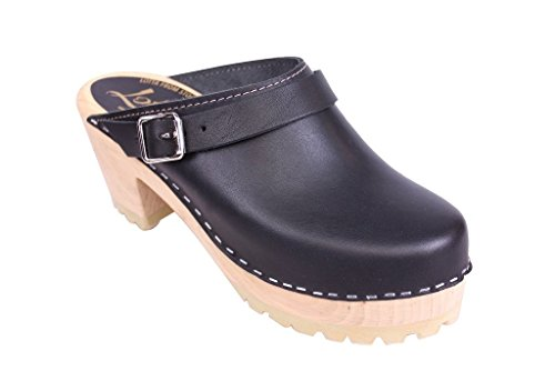 Lotta From Stockholm High Clog Tractor Sole in Black