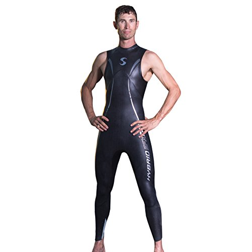 Synergy Hybrid Men's Sleeveless Triathlon Wetsuit - Triathlon Sleeveless Wetsuit Best