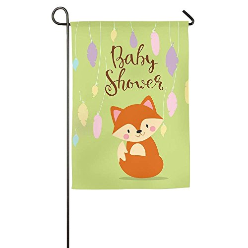 amuseds Happy Baby Shower Garden Flag Yard Decorations Flag