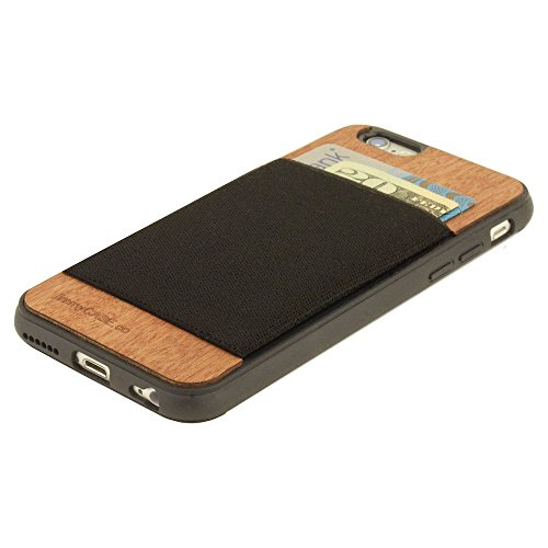 jimmyCASE iPhone 6/6S Ultra Slim Protective Credit Card Wallet Case, Orange and Navy Blue Stripe by jimmyCASE (Image #2)