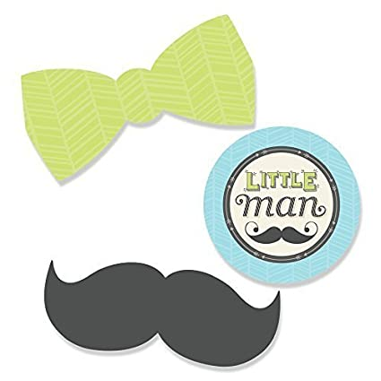 Dashing Little Man Mustache Party - DIY Shaped Baby Shower or Birthday Party Cut-Outs  sc 1 st  Amazon.com & Amazon.com: Dashing Little Man Mustache Party - DIY Shaped Baby ...