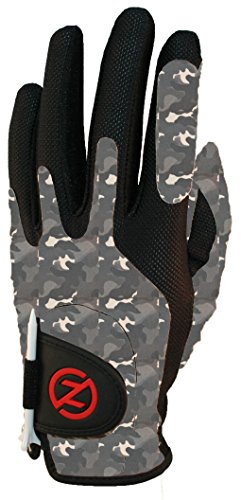 Men Golf Glove (Zero Friction Men's Synthetic Golf Glove, Night Camouflage, Left Hand, One Size)
