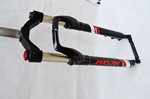 Whool Locking Suspension Forks Aluminium Alloy For 4.0''Tire Snow Mountain Bike 26 Fork Fat Bicycle Fork Travel 125mm by Whool