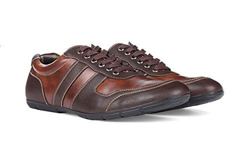 Sneakers Blu Uomo Firmate Marrone