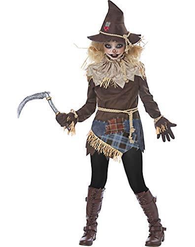 HalloCostume Girls Creepy Scarecrow Costume, Halloween Costumes for Girls -