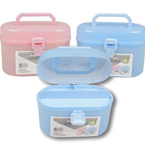 DDI 2323479 6.5 in. Stationery Box44; Blue & Pink - 96 Per Pack - Case of 96