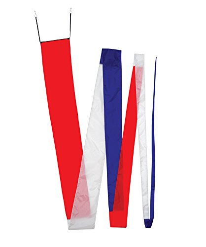 In the Breeze Red/White & Blue Streamer Kite Tail, 32' Long ()