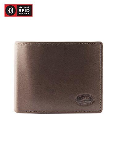 RFID Leather Men's Brown Mancini Left Mancini Secure Wing Men's Wallet Twgt0