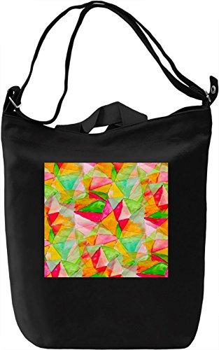 Triangles Watercolor Pattern Borsa Giornaliera Canvas Canvas Day Bag| 100% Premium Cotton Canvas| DTG Printing|