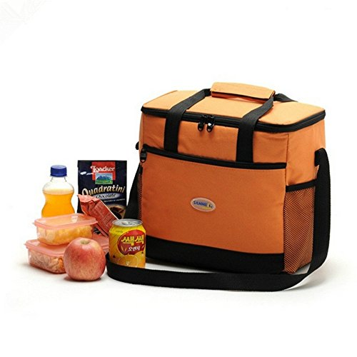 SUMCOO Portable Large Lunch Bag For Take-out Lunch, Folding Picnic Cooler Bag,And Cooler For Sport (Orange) (Portable Fridge Bag)
