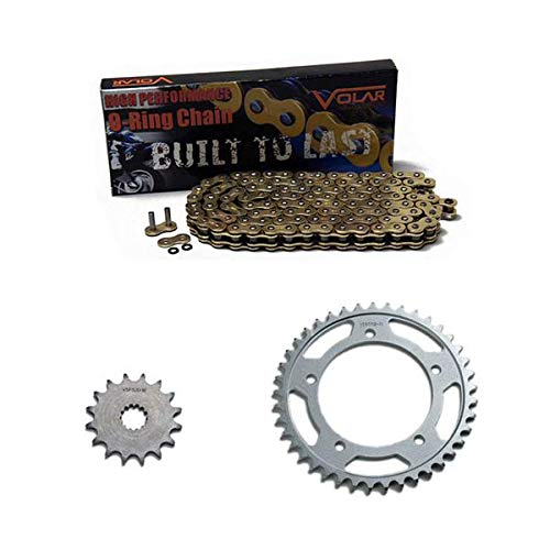 2014 O-ring Chain - Volar O-Ring Chain and Sprocket Kit - Gold (520 conv) for 2006-2018 Yamaha YZF R6