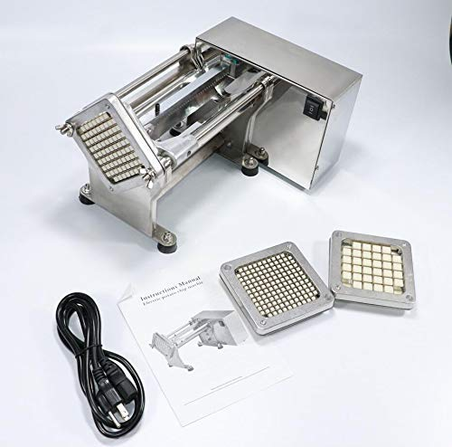 Li Bai Electric French Fry Cutter Commercial Potato Slicer Vegetable Chopper Fries Chip Maker for Tornado Potatoes Making (Auto) 3 sizes of replaceable blades DHL Shipping by Li Bai (Image #2)
