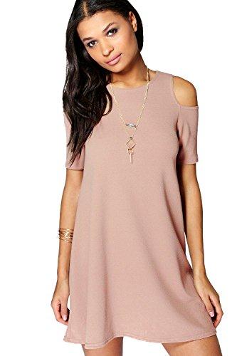 Sand Lizzy Ausgestelltes Kleid Mit Ausgeschnittenen Schultern 8 ...