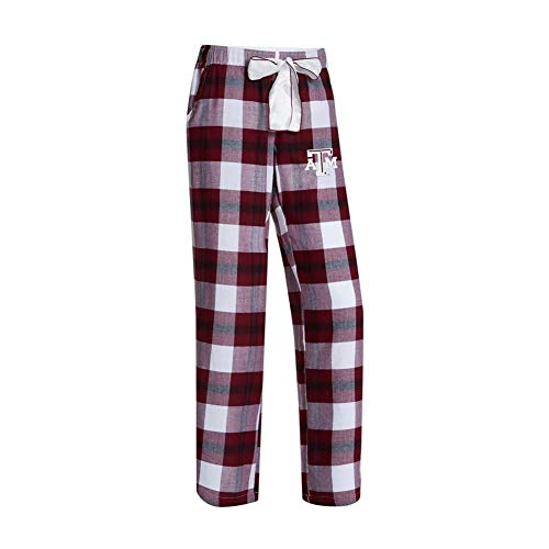 Concepts Sport NCAA Womens-Headway -Flannel Paid Pajama Pants Bottoms-Texas A&M Aggies-Large