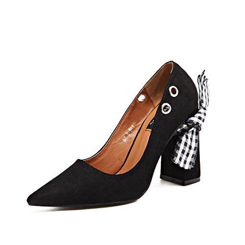 Carrera Casual Punta Boca Y Lvyuan Superficial 36 Zapatos Puntiaguda Vestindo Verano Una mxx De Oficina Mujeres Las Vestido Sandalias Primavera Formas Grueso Creativo Variedad Talón 1 T7Zvw
